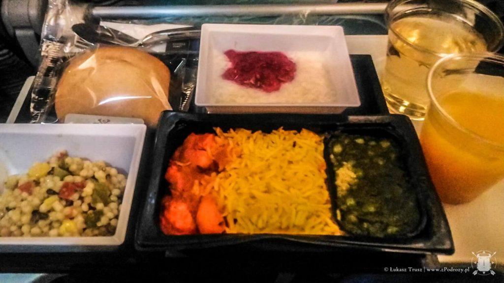 Etihad - kolacja