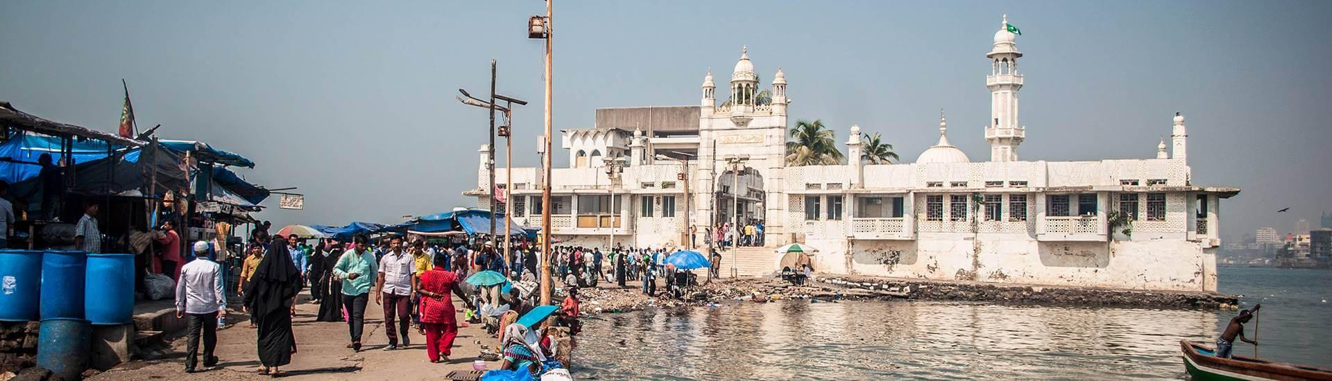 Haji Ali Dargah - Mumbai - Indie meczet na wodzie