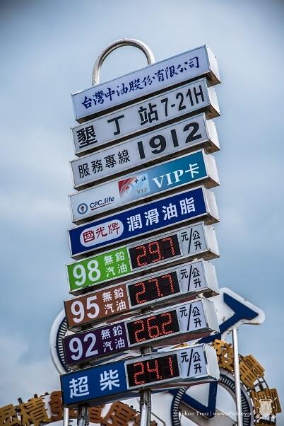 Tajwan ceny paliw